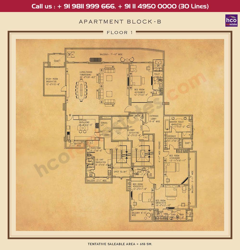 First Floor Plan : 6652 Sq.Ft.