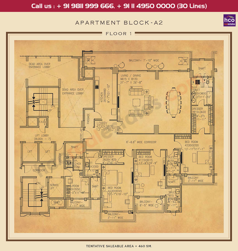 First Floor Plan : 4951 Sq.Ft.