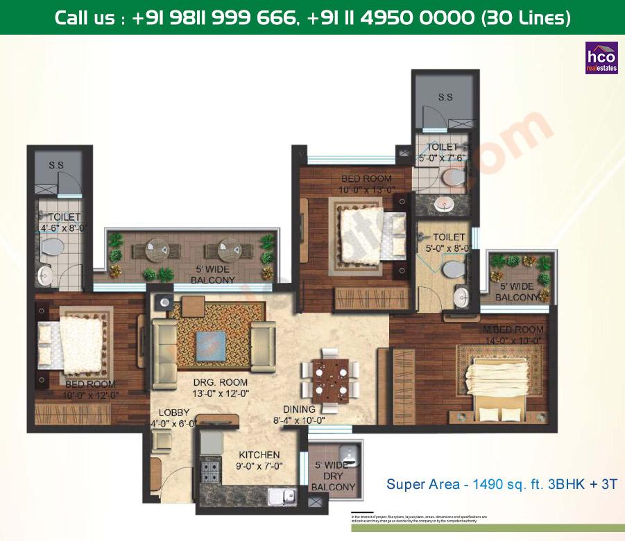 Floor Plan Mapsko Mount Ville Gurgaon Sector 79