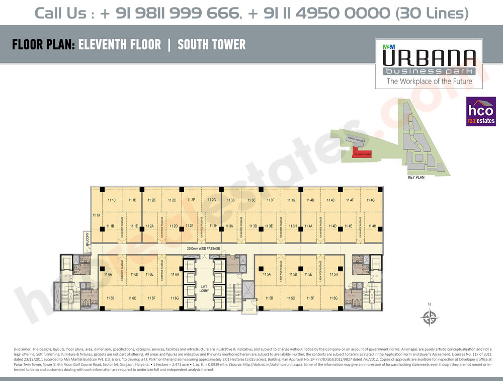 Eleventh Floor Plan