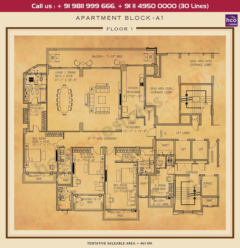 First Floor Plan : 4962 Sq.Ft.