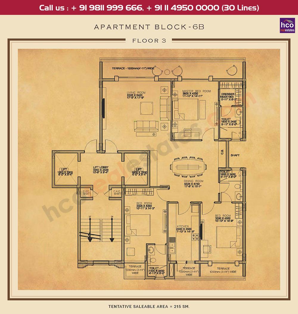 Third Floor Plan : 2315 Sq.Ft.