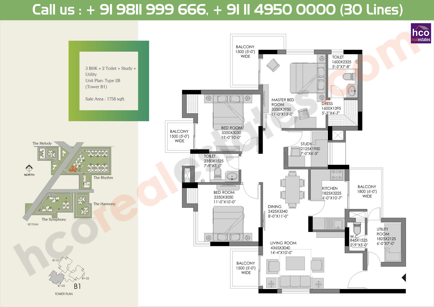Floor Plan Experion Heartsong Gurgaon Sector 108