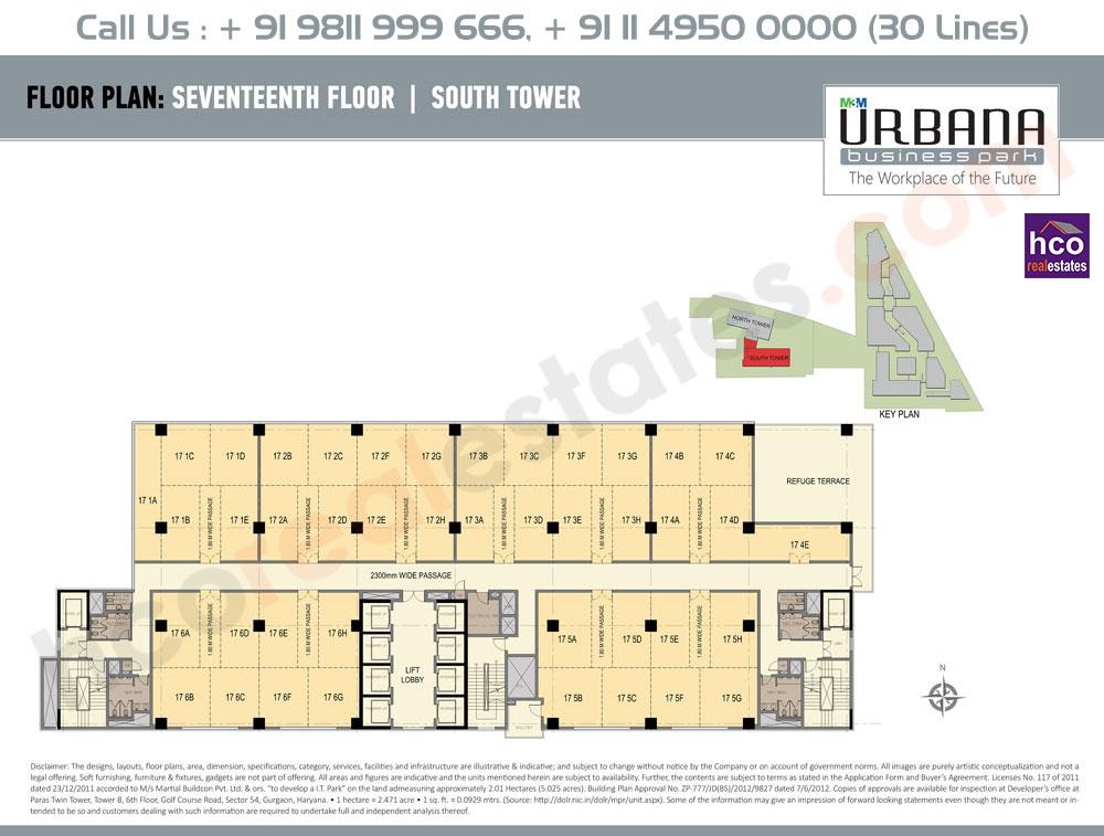 Seventeenth Floor Plan