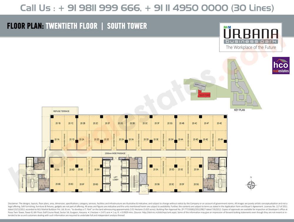 Twentieth Floor Plan