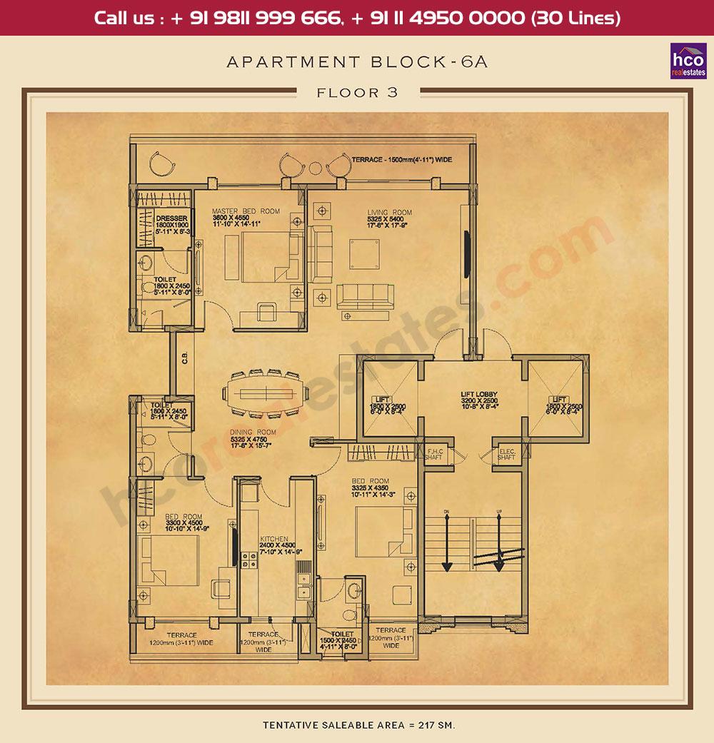 Third Floor Plan : 2336 Sq.Ft.
