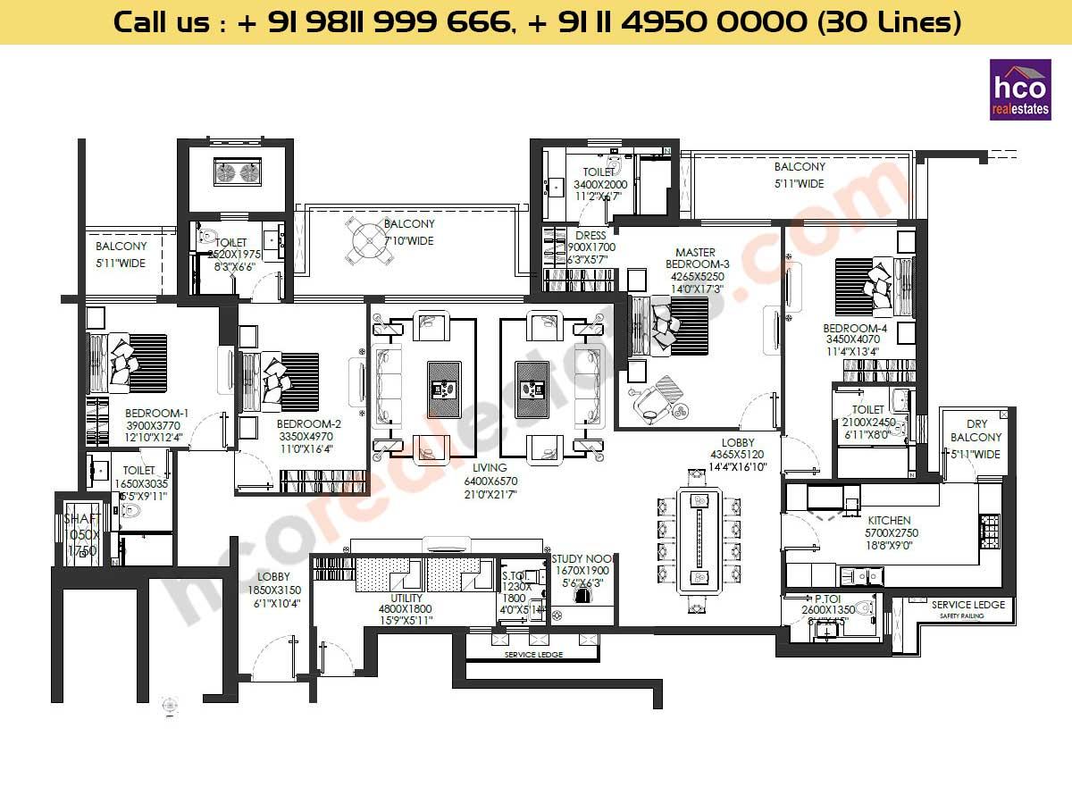 Residential Floor Plans Dlf Crest Gurgaon Sector 54