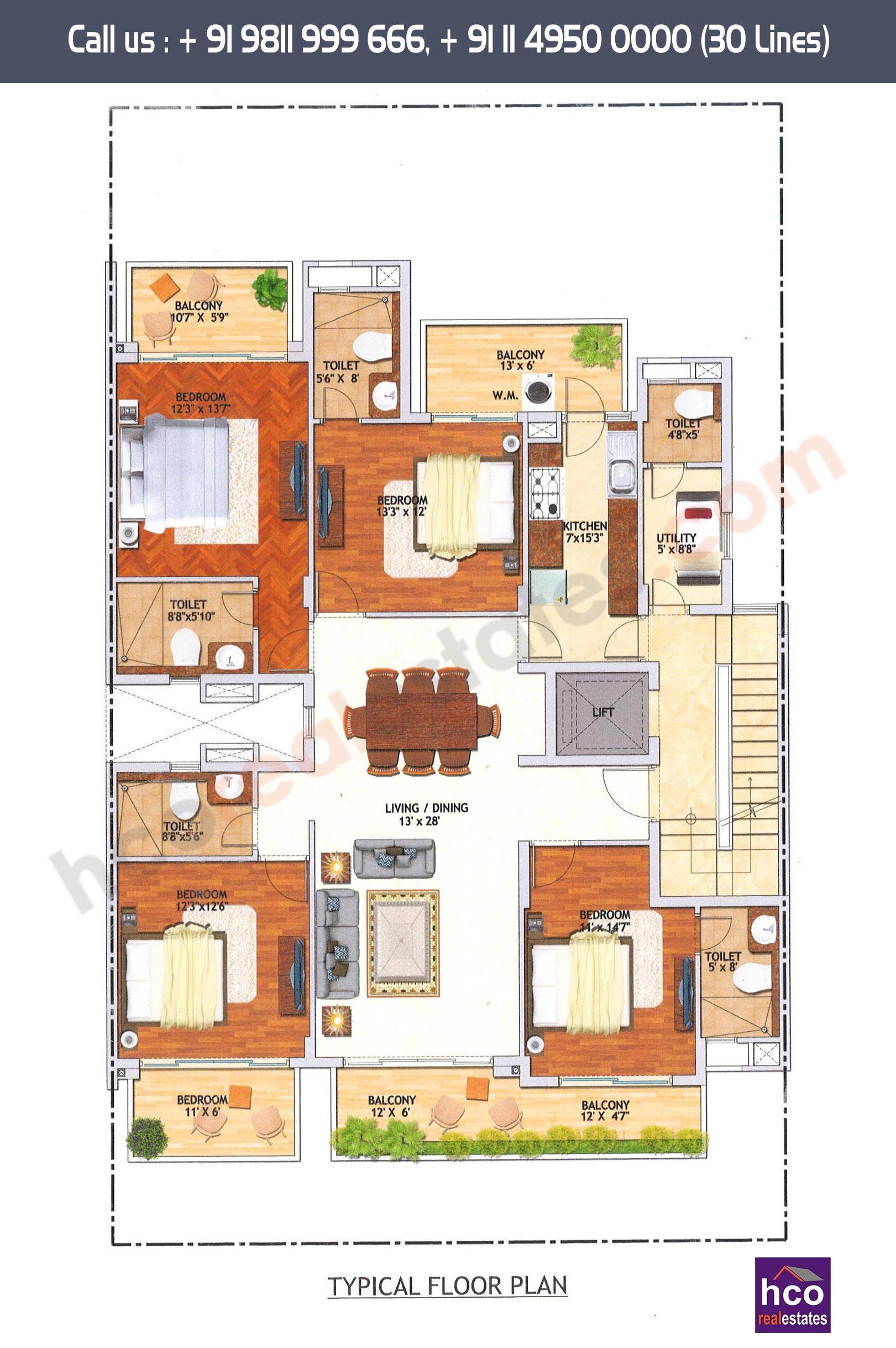 Floor Plan Of Adani Samsara Gurgaon At Sector 60