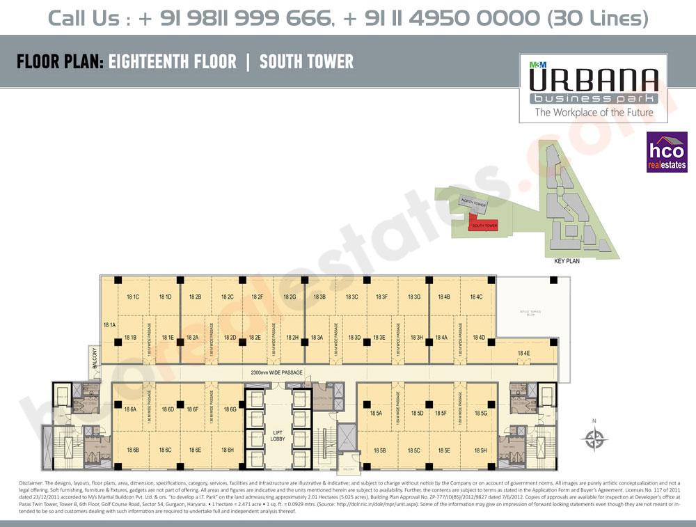 Eighteenth Floor Plan