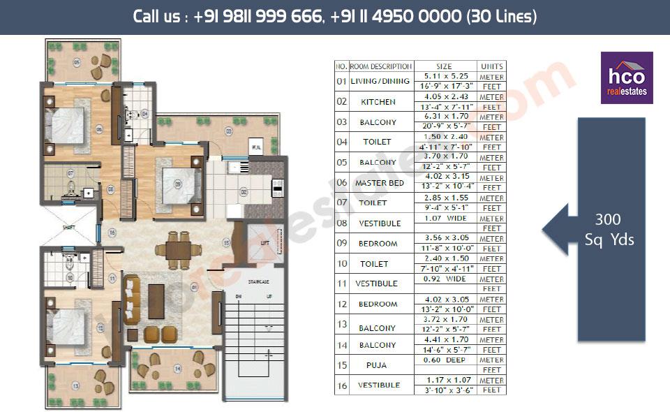 Floor Plan Or Layout Plan Of The Adani Samsara Vilasa