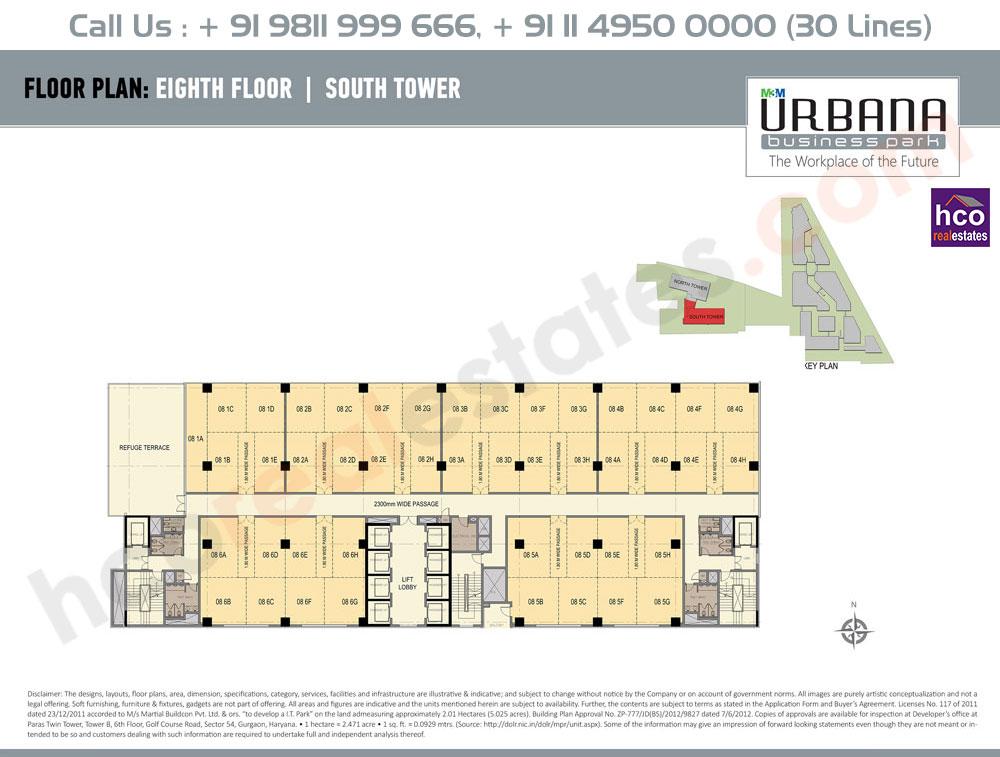 Eighth Floor Plan