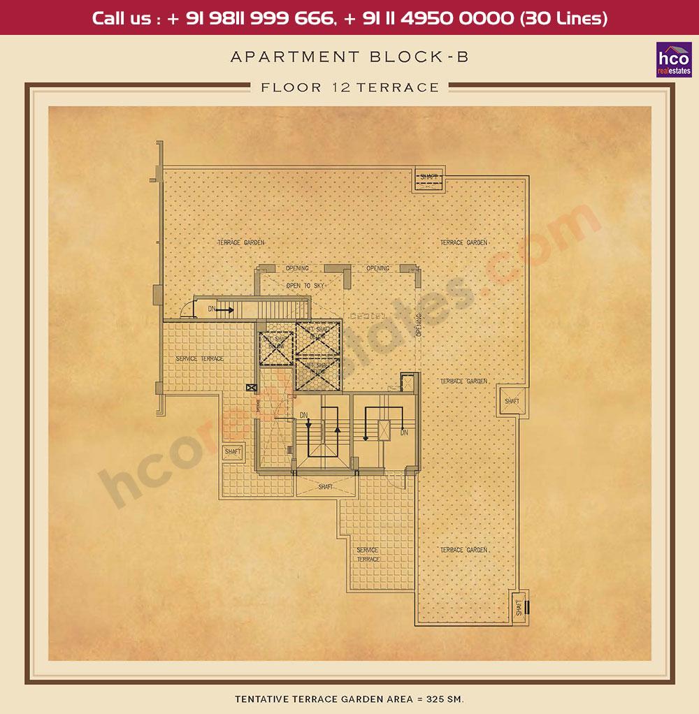 Terrace Floor Plan : 3498 Sq.Ft.