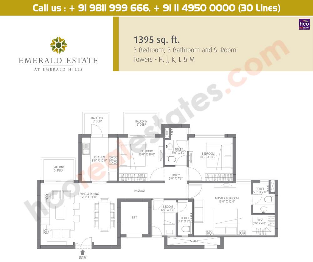 Floor Plan Emaar Emerald Estate Gurgaon Sector 65