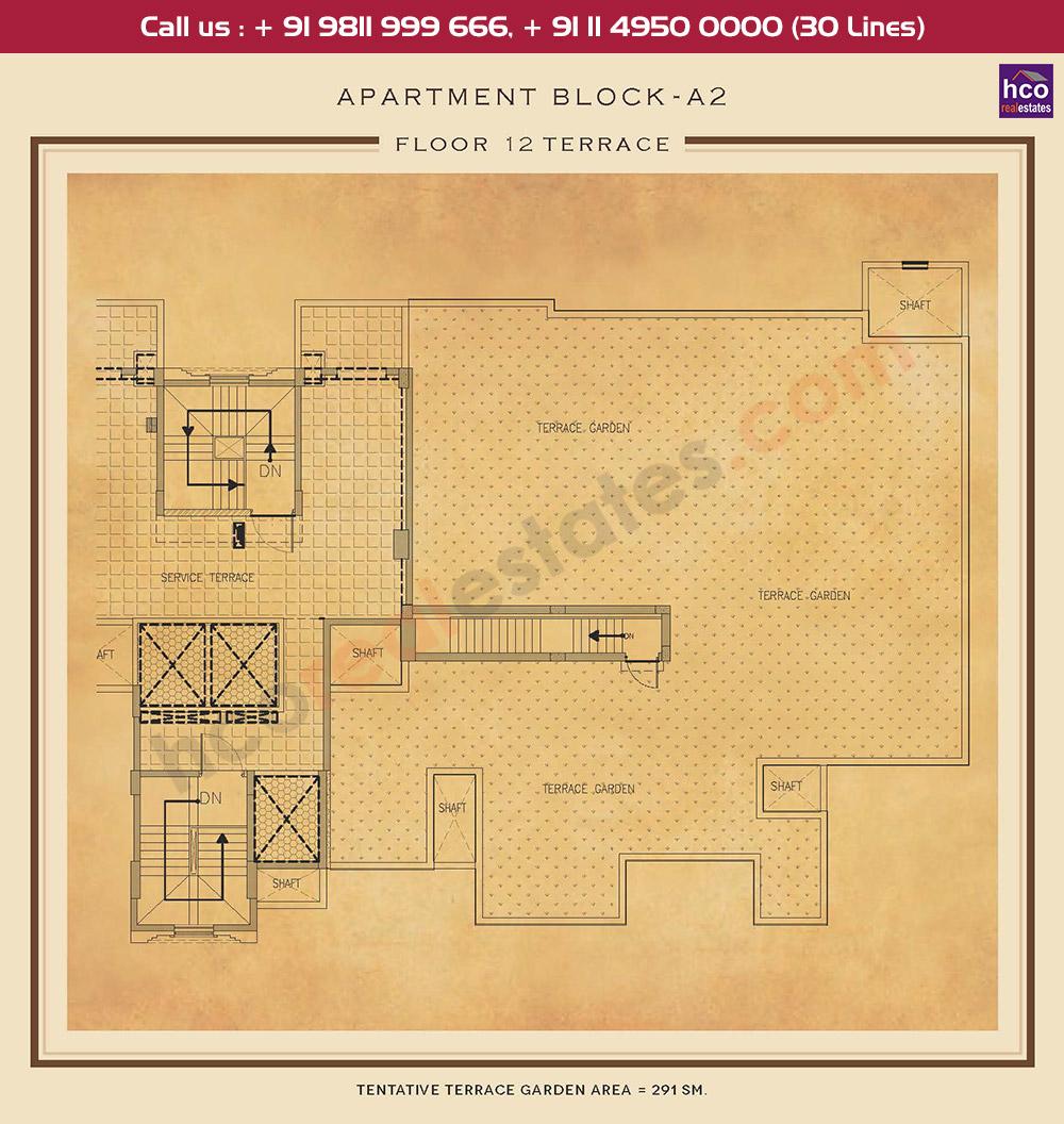 Terrace Floor Plan : 3132 Sq.Ft.