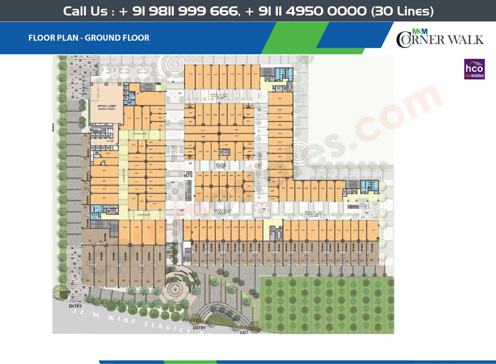 Floor Plan M3m Corner Walk Gurgaon