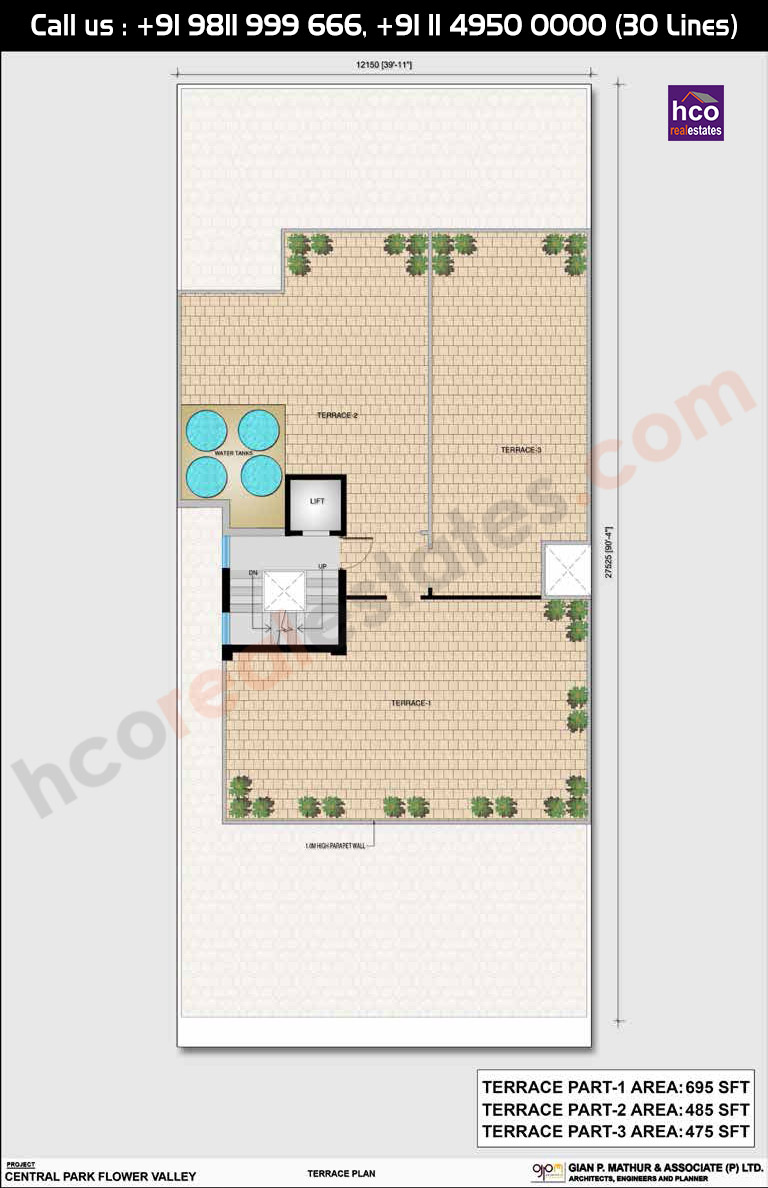 Floor Plan Or Layout Plan Of Central Park 3 Clover Floors