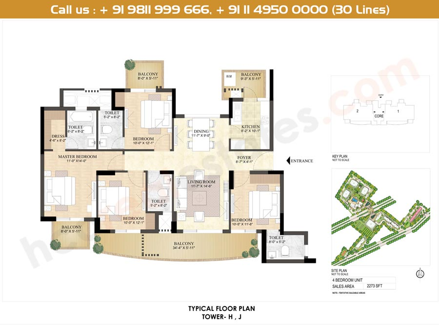 Floor Plan Or Layout Plan Of The Dlf The Primus
