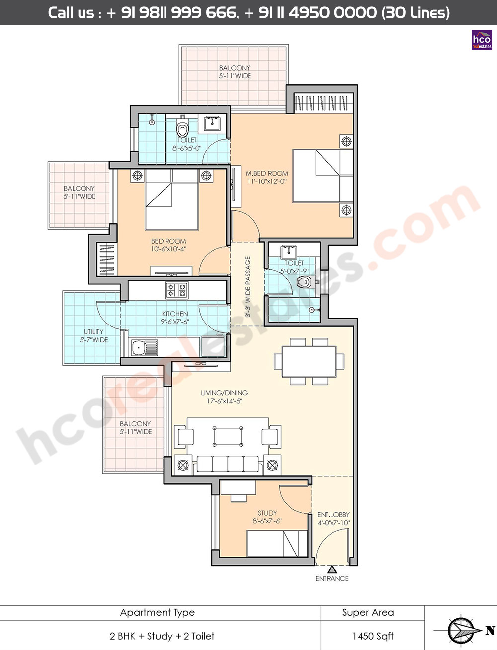 Floor Plan M3m Sierra Gurgaon Sector 68