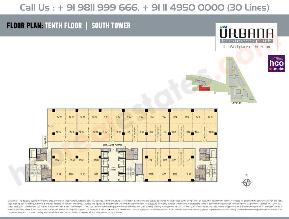 Tenth Floor Plan