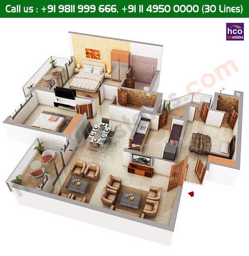 Floor Plan Of Central Park 1 Gurgaon Sector 42