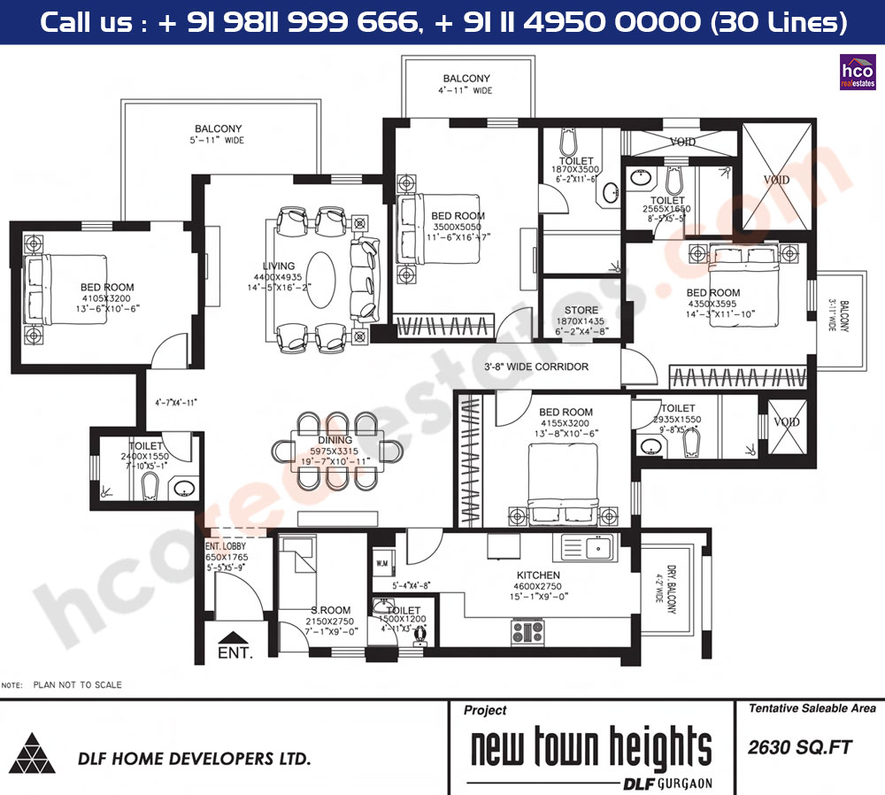 Floor Plan Dlf New Town Heights Gurgaon Sector 86