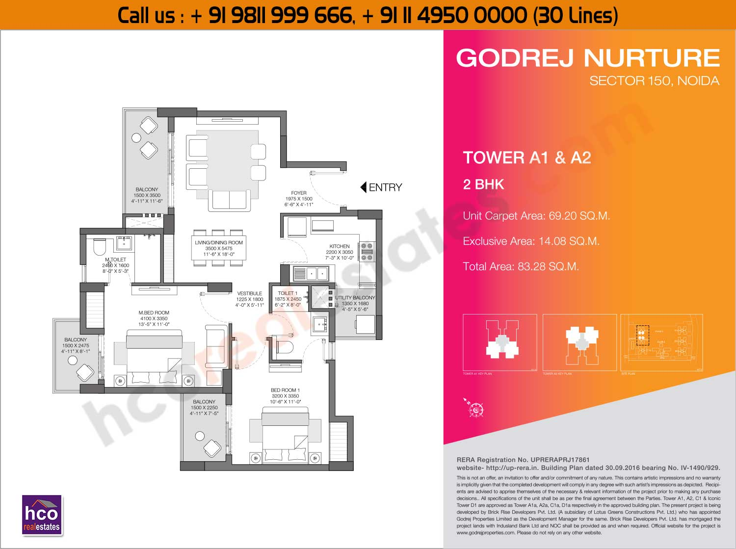 2 BHK - Tower - A1, A2