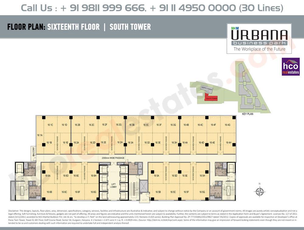 Sixteenth Floor Plan