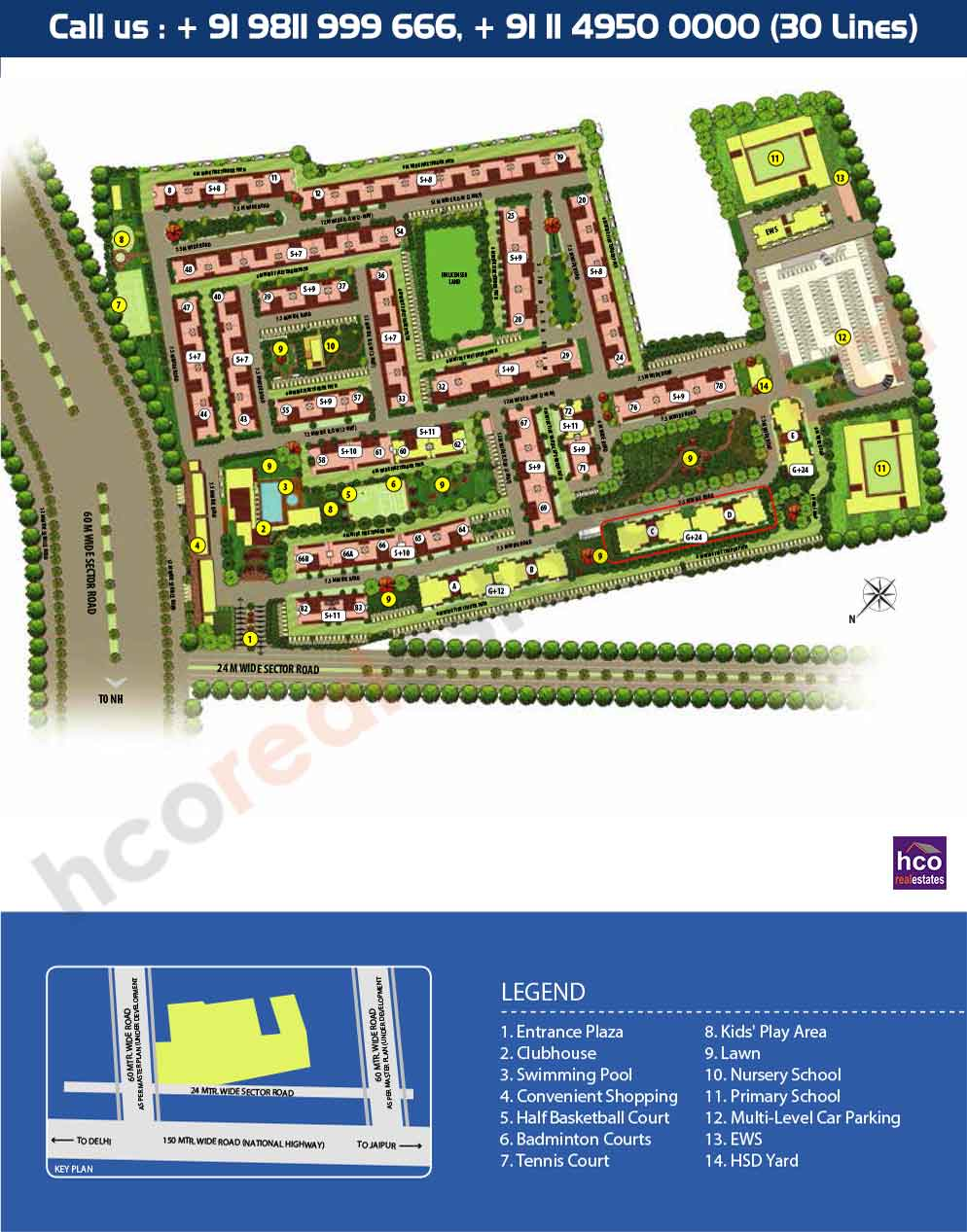 Master Plan - Emaar Palm Heights Gurgaon sector 77