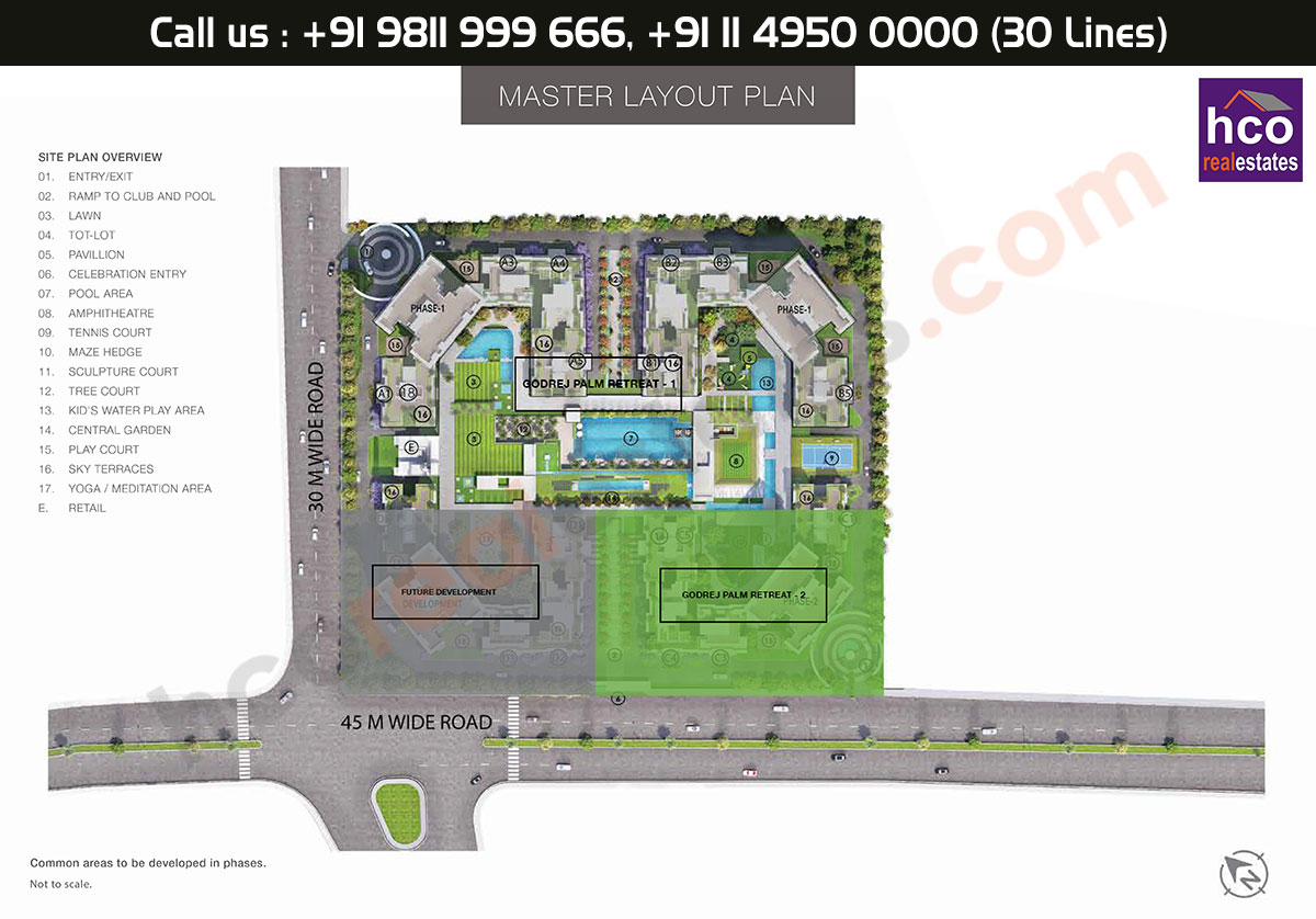 Master Plan - Godrej Palm Retreat Sector 150