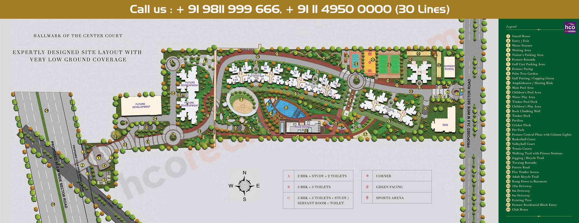 Ashiana Center Court Site Plan
